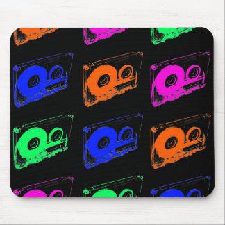 80's Retro Design - Audio Cassette Tapes Mouse Pad