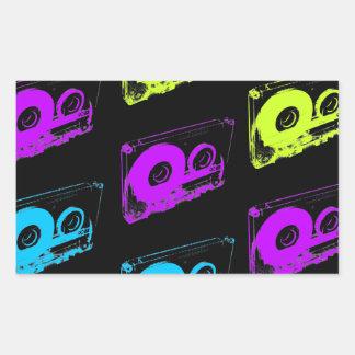 80's Retro Design - Audio Cassette Tapes Rectangular Sticker