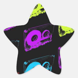 80's Retro Design - Audio Cassette Tapes Star Sticker