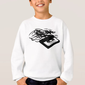 80's Retro Design - Audio Cassette Tapes Sweatshirt