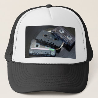 80's Retro Design - Audio Cassette Tapes Trucker Hat