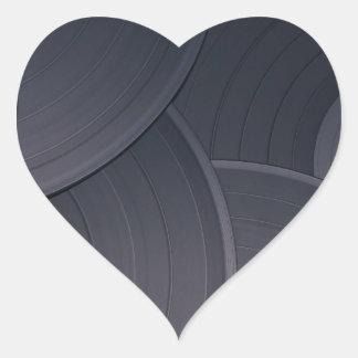 80's Retro Design Heart Sticker