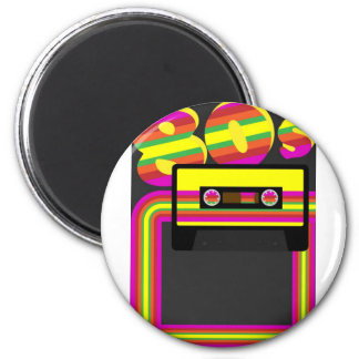 80s Retro Party 6 Cm Round Magnet