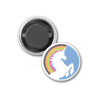 80's Retro Rainbow and Unicorn Magnet