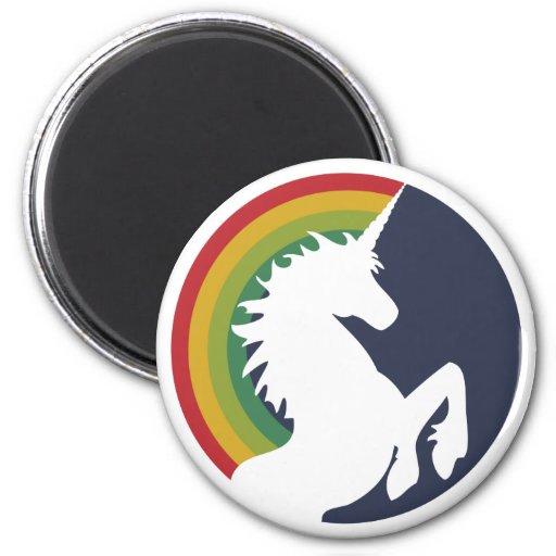 80's Retro Rainbow and Unicorn Magnet Fridge Magnets