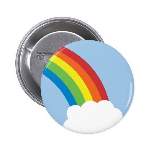 80's Retro Rainbow Button