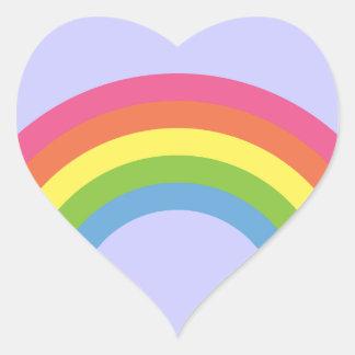 80's Retro Rainbow Heart Stickers
