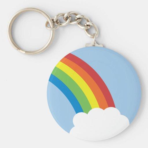 80's Retro Rainbow Keychain