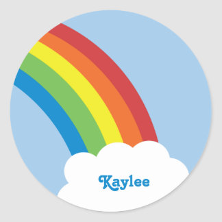 80's Retro Rainbow Name Stickers
