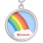 80's Retro Rainbow Personalised Necklace