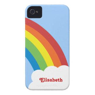 80's Retro Rainbow Personalized iPhone 4/4S Case