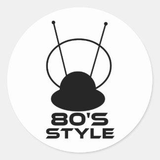 80s Retro Style Round Sticker