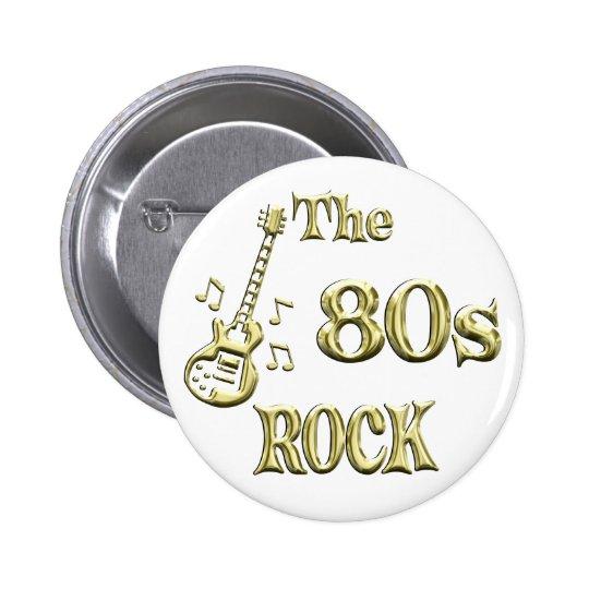 80s ROCK 6 Cm Round Badge