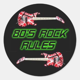 80's Rock Rules Sticker