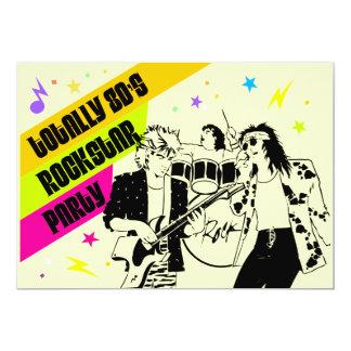 80's Rockstar Party Invitation