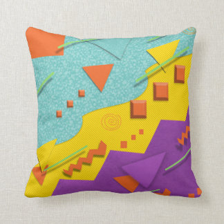 80s Style Nostalgic Pattern Pillow