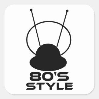 80s Style Square Sticker