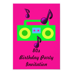 80s theme party invitations announcements zazzle au