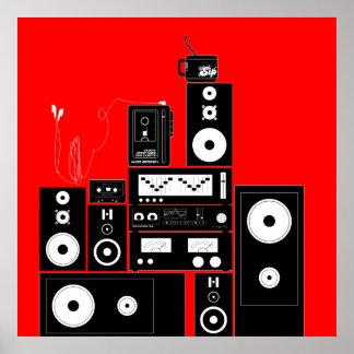 "80s VINTAGE AUDIO GEAR ""AUTO REVERSE"" Poster Art"