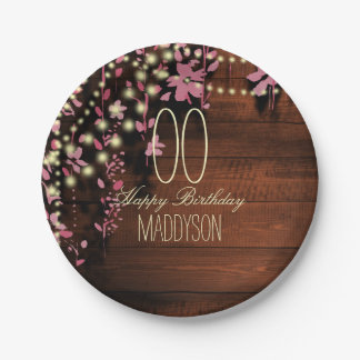 80th 85th 90th 91st 92nd 97th 98th 99th Birthday Paper Plate