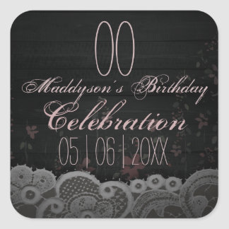 80th 85th 90th 91st 92nd 97th 98th 99th Birthday Square Sticker
