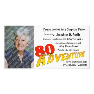 80th Birthday Adventure Party Photo Invitation Photo Card