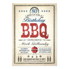 80th Birthday BBQ Invitations