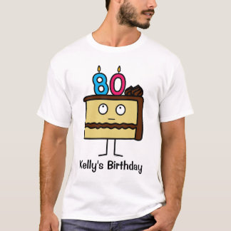 80th Birthday Cake with Candles T-Shirt