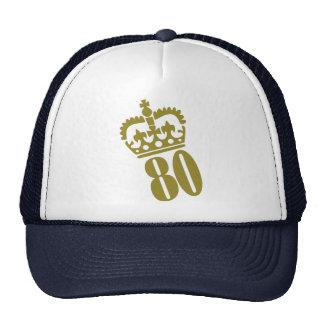 80th Birthday Cap