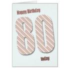 80th birthday card