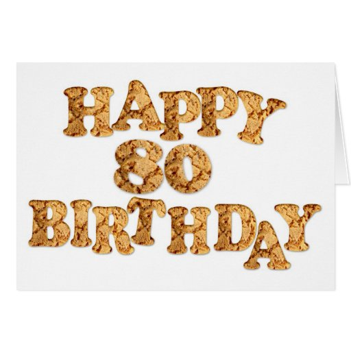 80th Birthday card for a cookie lover