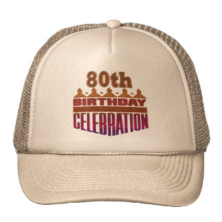 80th Birthday Celebration Gifts Cap