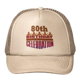 80th Birthday Celebration Gifts Hat