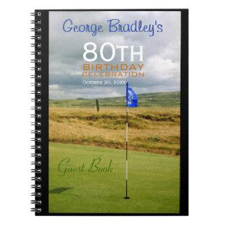 80th Birthday Celebration Golf Guest Book