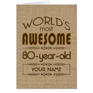 80th Birthday Celebration World Best Fabulous Greeting Card