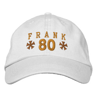 80th Birthday Custom GOLD Embroidery H80A Embroidered Cap
