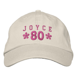 80th Birthday Custom PINK Embroidery H80C Embroidered Baseball Cap