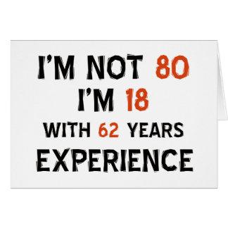 80th birthday designs greeting card