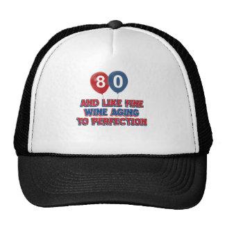 80th birthday designs trucker hats