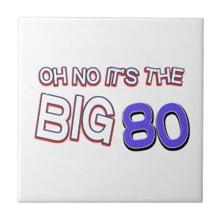 80th birthday designs tiles