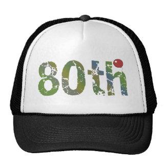 80th Birthday Gifts Mesh Hats