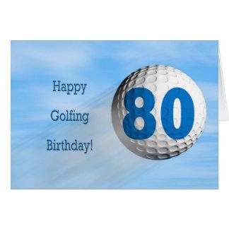 80th birthday golfing card