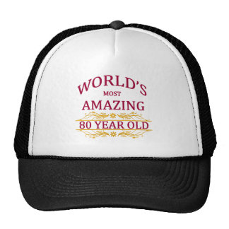 80th. Birthday Mesh Hats