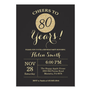 80th Birthday Invitations Zazzle Au
