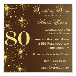 80th Birthday Invitations