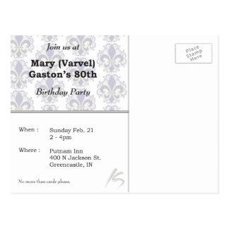 80th Birthday Invite Postcard
