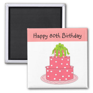 80th Birthday Magnet