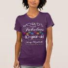 80th Birthday Most Fabulous Colourful Gems Purple T-Shirt