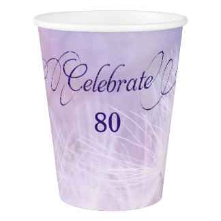 80th Birthday Party Custom Paper Cups