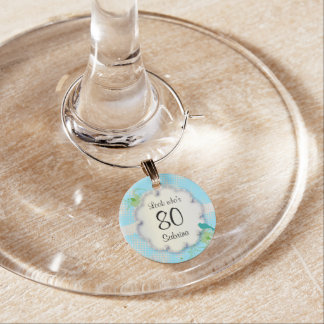 80th Birthday Party | DIY Text Wine Charm